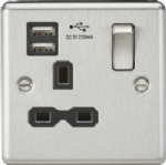 CL91BC 1G Switched Sockets With Usb Charger